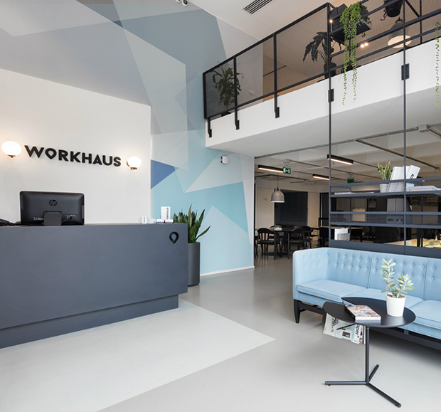><span>Workhaus is an office complex incorporating the entire necessary infrastructure for your comfort. You only need to bring your computer and start working. Your coffee will be ready and waiting for you. </span><i>→</i>